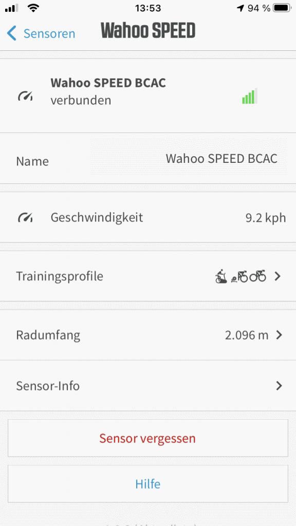 wahoo rpm speed sensor setup